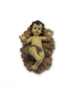 Gesù Bambino del presepe con culla